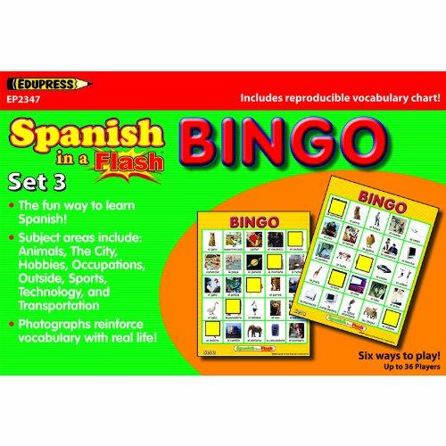 SPANISH IN A FLASH BINGO SET 3 by Edupress (Image #1)