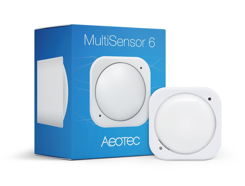 Aeotec Multisensor 6, Z-Wave Plus 6-in1 motion, temperature, humidity, light, UV, vibration sensor