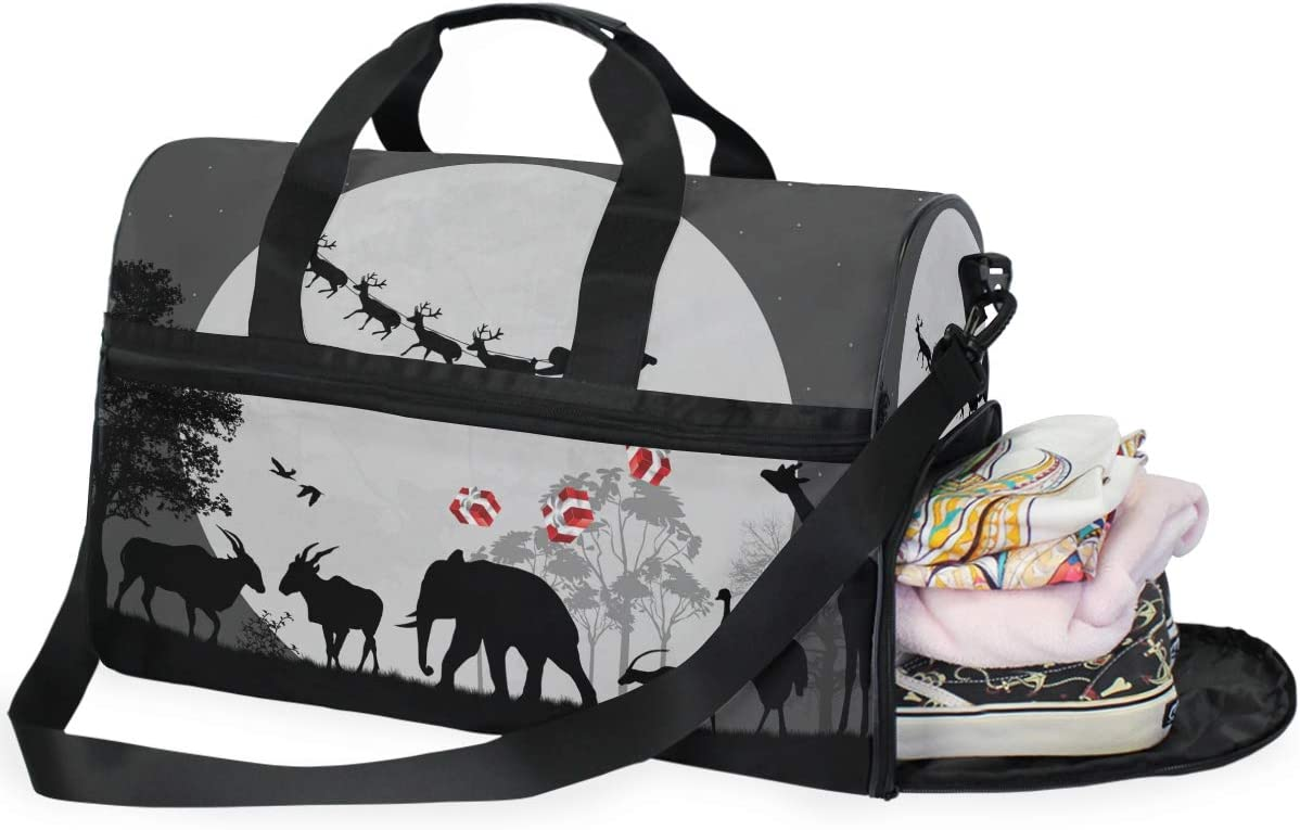 Africa Sports Gym Bag with Shoes Compartment Travel Duffel Bag for Men and Women