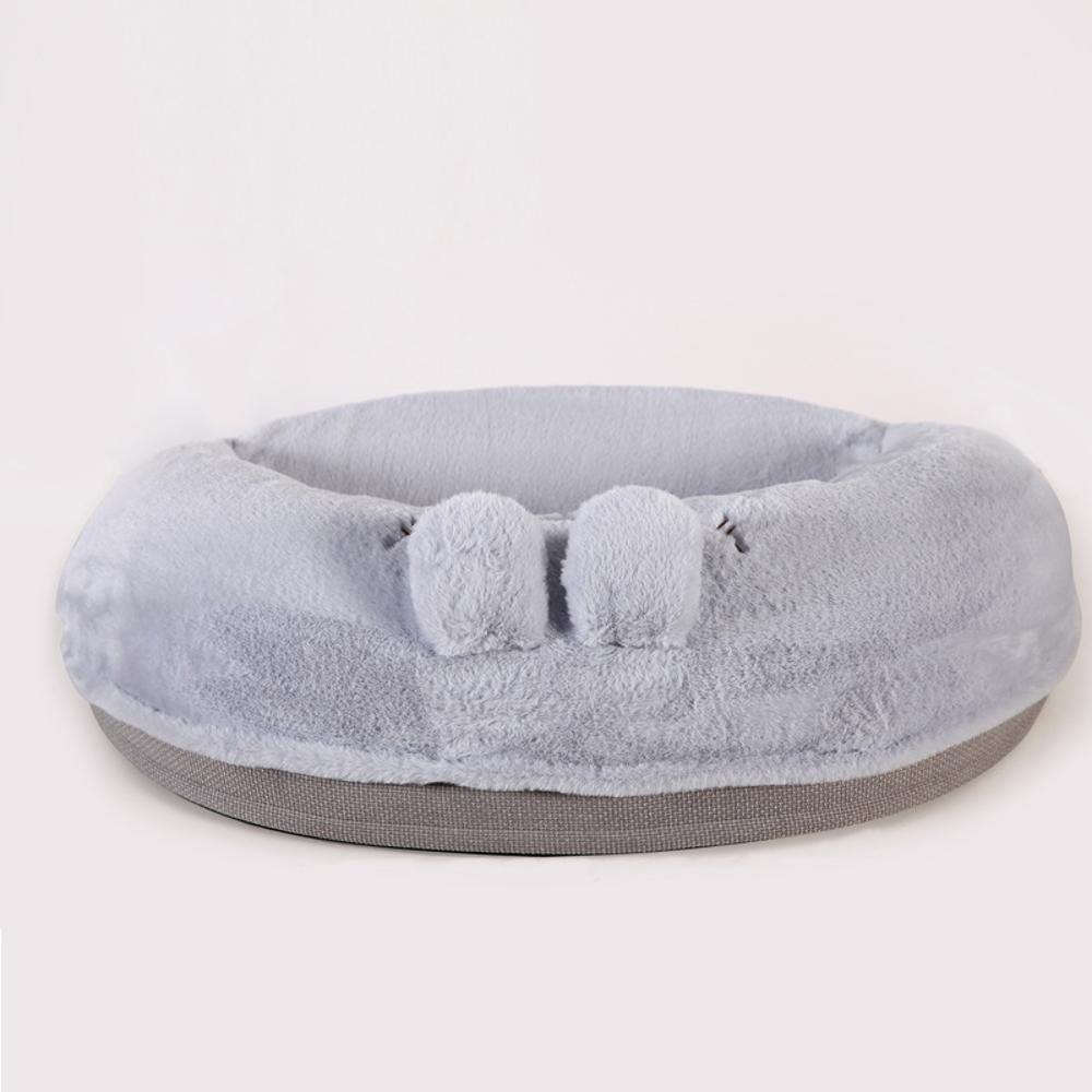 B Dixinla Pet Bed Pet Nest Cushion Plush Semicircle pet Sofa mat Kennel Removable and Washable