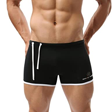 e71d62f15f Transer® Sexy Men's Pulling Rope Swimming Trunks- Swim Shorts Square Leg  Cut Suits Boxer