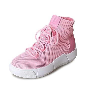 YSFU zapatillas Zapatillas De Deporte para Mujer Primavera Y Otoño Plataforma Suave para Mujer De Damas Calzados Casuales Calzado Deportivo Casual Malla ...