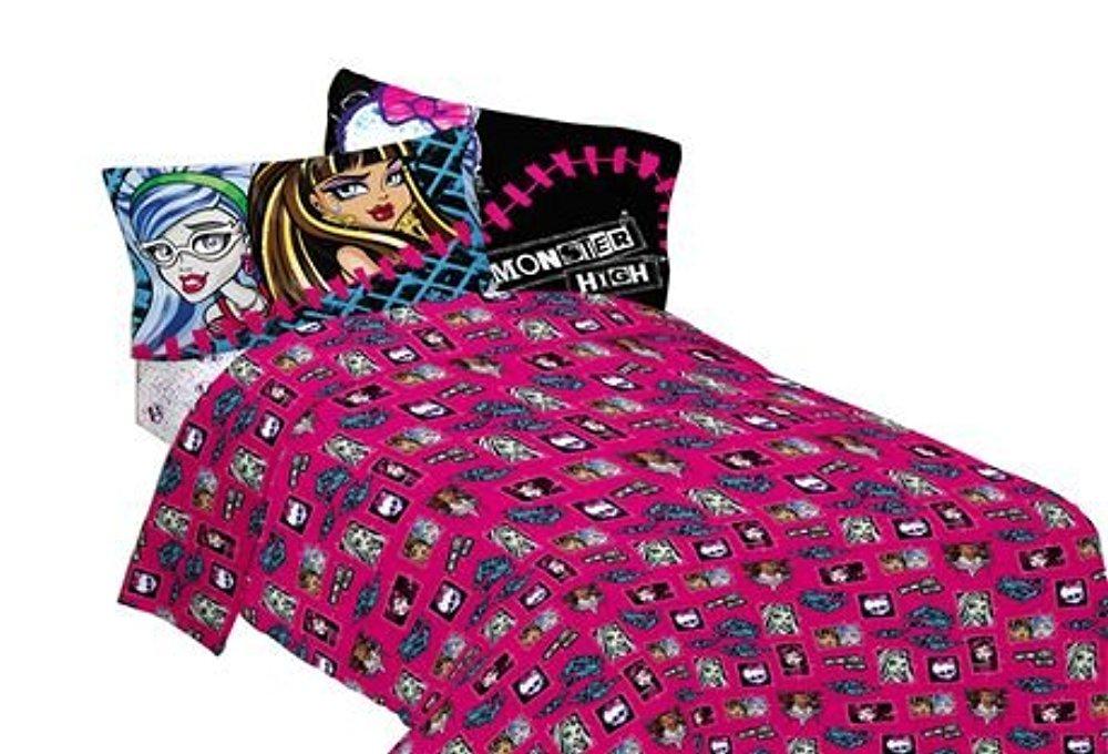 "Monster High ""All Ghouls Allowed"" Full Size Sheet Set"