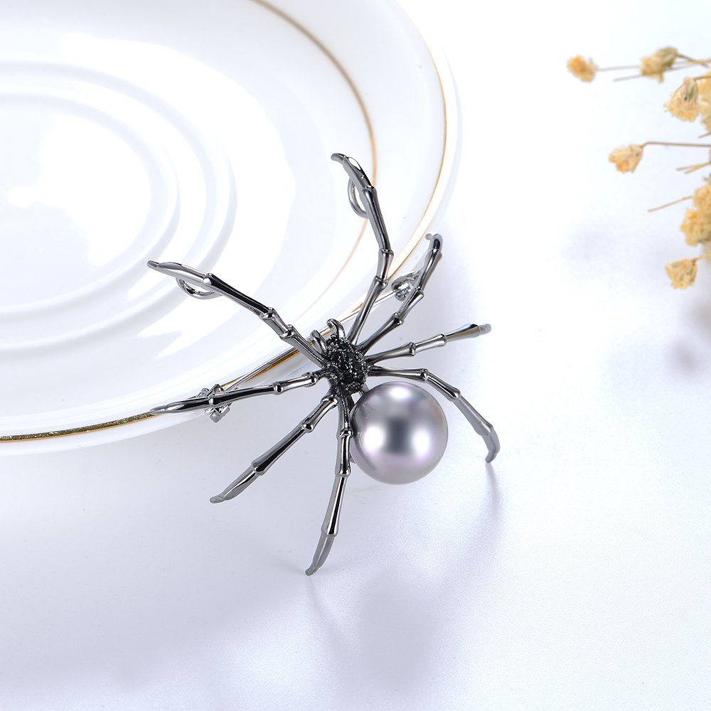 Mytys Spider Pin Brooch Drop Pendant for Women Gun Color Plated by Mytys (Image #2)