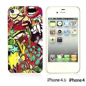 OnlineBestDigitalTM - Funny Pattern Hardback Case for iPhone 4S / iPhone 4 - Rock Graffiti