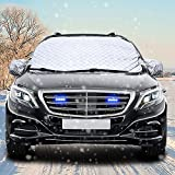 Windshield Snow Cover CARSUN Ultra Thick with 4 Layer Ice Protector and UV Proof for Winter Ice Car Windshield Cover - Heavy Duty Snow Covers 58 x 38 Inches