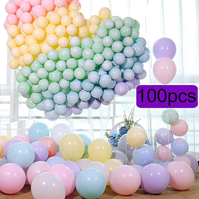 Homeofying 100 St/ücke 10 Zoll Mischfarbe Latex Aufblasbare Macaron Bunte Luftballons Hochzeit Geburtstag Party Decor F/ür Hochzeiten Geburtstag Gemischte Farbe