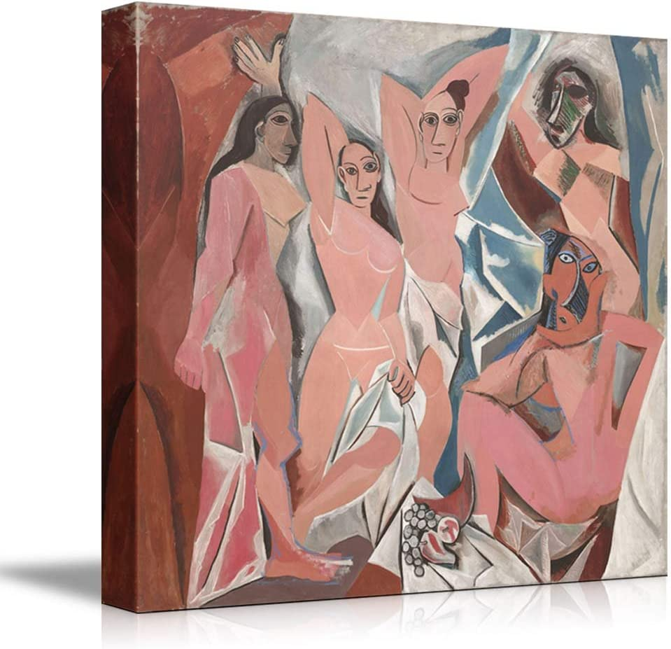 Amazon Com Wall26 Les Demoiselles D Avignon The Young Ladies Of Avignon By Picasso Giclee Canvas Prints Wrapped Gallery Wall Art Stretched And Framed Ready To Hang 12 X 12 Posters