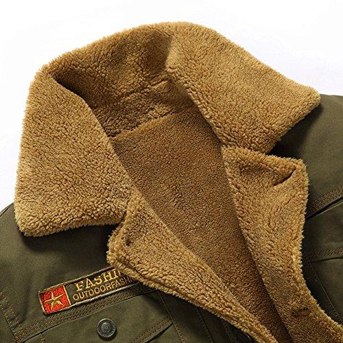 Manteaux Blousons Automne Épais Yyzyy Parka Militaire Faux Matelassée Bomber Homme Coton Hiver Veste Chaud Doublure Kaki Cashmere Wq1wAfwY