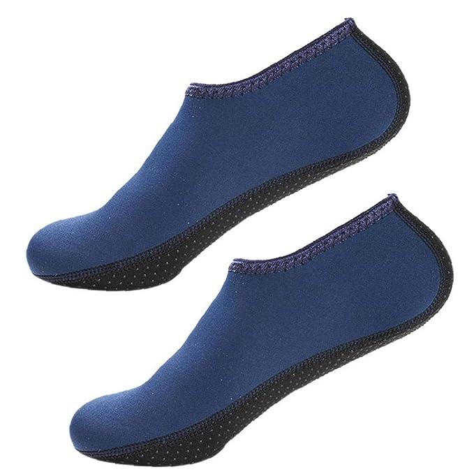 Aisoway Aqua Calcetines De Agua Zapatos Calcetines Yoga Descalzas De Secado Rápido Zapatos De La Resaca De Natación Para El Snorkel Kayak Surf Baño ...