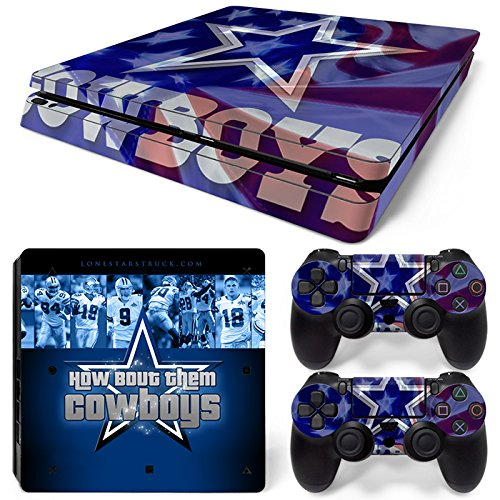 - FriendlyTomato PS4 Slim Console and DualShock 4 Controller Skin Set - Football NFL - PlayStation 4 Slim Vinyl