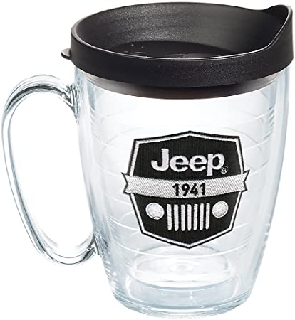 701e3c0e495 Tervis 1267874 Jeep Brand - Logo Tumbler with Emblem and Black Lid 16oz  Mug, Clear