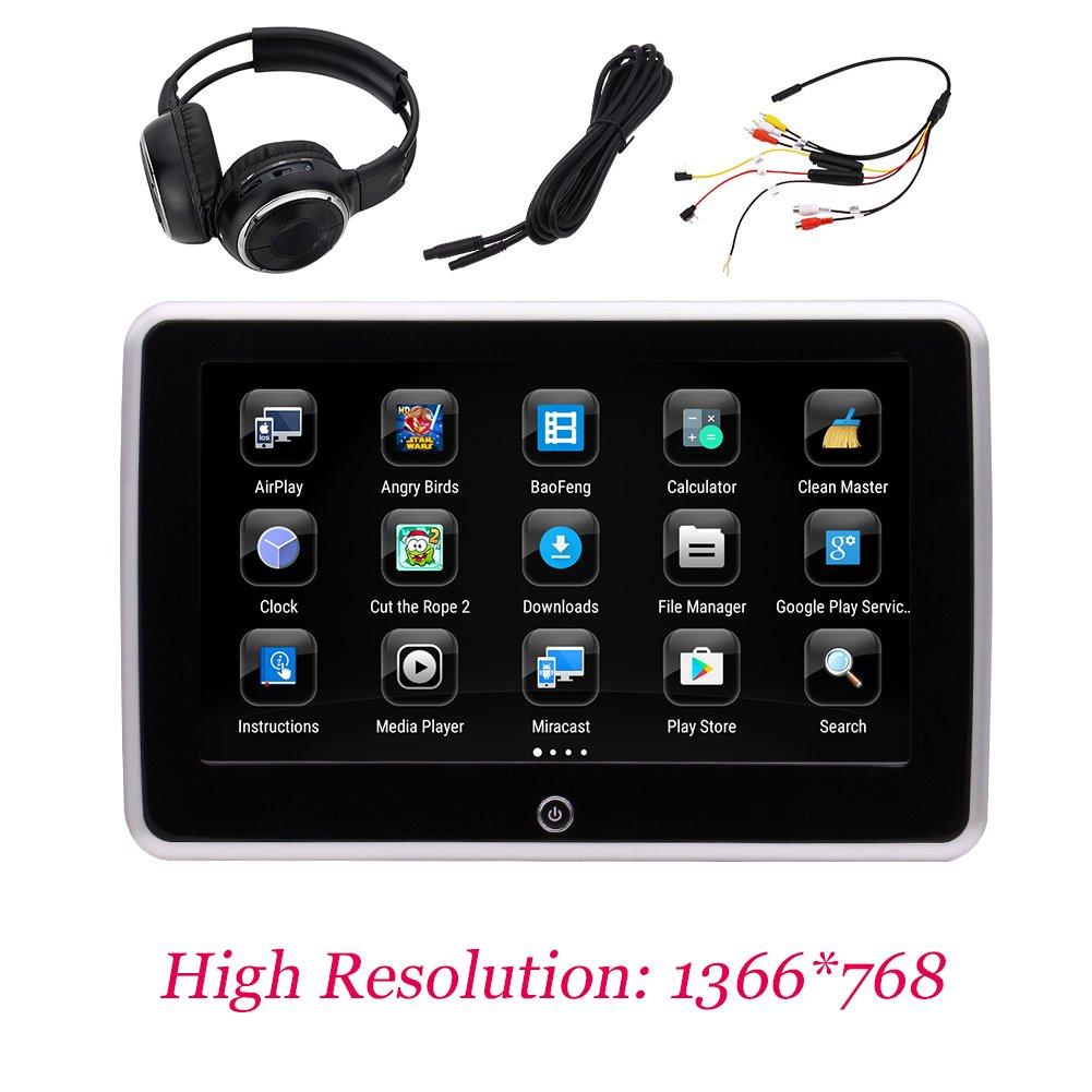 アンドロイド6.0システムUSB / SD / HDMIポート/無線LAN /スクリーンミラーリングおよびワイヤレス赤外線ヘッドフォン付きEincar 10.1