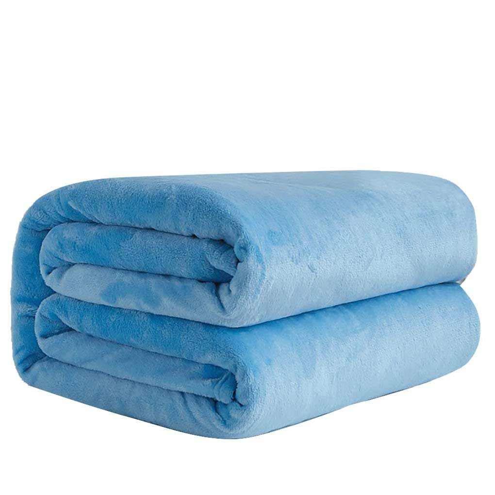 Blue Sky Lorsoul Solide Couleur Flanelle Couverture lit Bureau Canap/é Voitures Automne Hiver Chaud Tapis Salle Air conditionn/ée Rugs 70cm 50