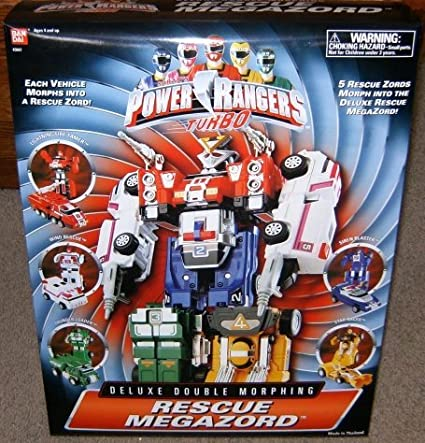 Power Rangers Turbo Rescue Megazord Deluxe Double Morphing Action Figure by Ban Dai MMPR