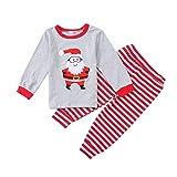 Toddler Boys Girls Kids Santa Claus Shirt + Striped