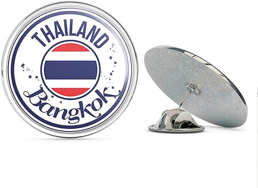 Bangkok Thailand Flag Lapel Pin Badge