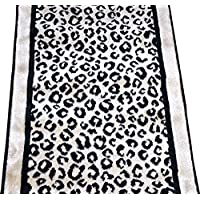 Kenya Onyx Snow Leopard Stair or Hall Premium Nylon Carpet Runner Rug 27 W - Sold in Custom Lengths by the Linear Foot