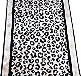 Kenya Onyx Snow Leopard Stair or Hall Premium Nylon Carpet Runner Rug 27'' W - Sold in Custom Lengths by the Linear Foot