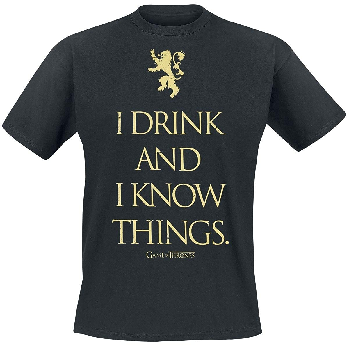 Game of Thrones - I Drink And I Know Things Hombres Camiseta - Negro