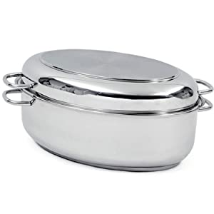 Norpro 649 Krona Stainless Steel 12-Quart Multi Roaster, Silver