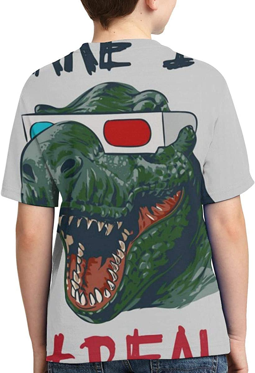 Boys All Over 3D Digital Printed Make It Real Godzilla Crewneck Personalized T Shirts Tees