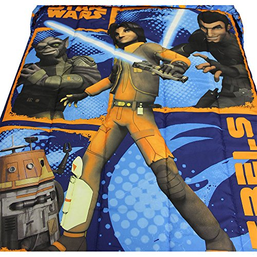 [Star Wars Rebels Microfiber Twin/Full Reversible Comforter] (Star Wars Chopper)