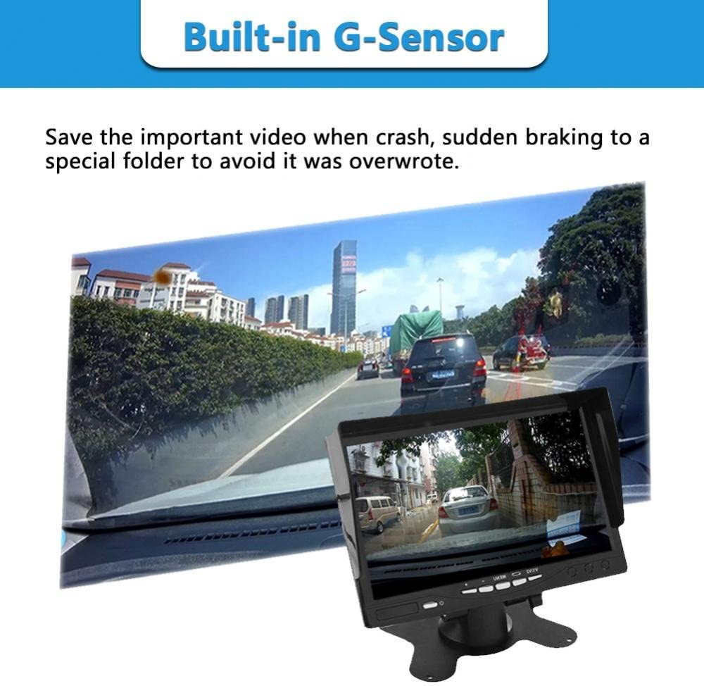 Keenso WiFi Full HD 1080P 170/° Wide Angle Car DVR Front Camera Driving Recorder Parking Monitoring Dash Cam w//G-Sensor//Loop Recording 32G