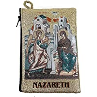Annunciation of Virgin Mary Rosary Icon Pouch Tapestry Prayer Keepsake Case 5.7