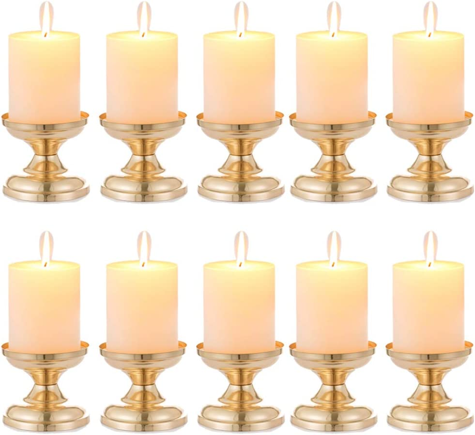 Metal Pillar Candle Holders Candlestick Stand Romantic Wedding Party Decor