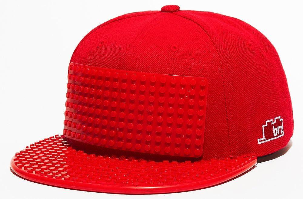 e3b163ff8 Snapback Baseball Cap Lego compatible Brick Brick Gear, Regular, Red ...