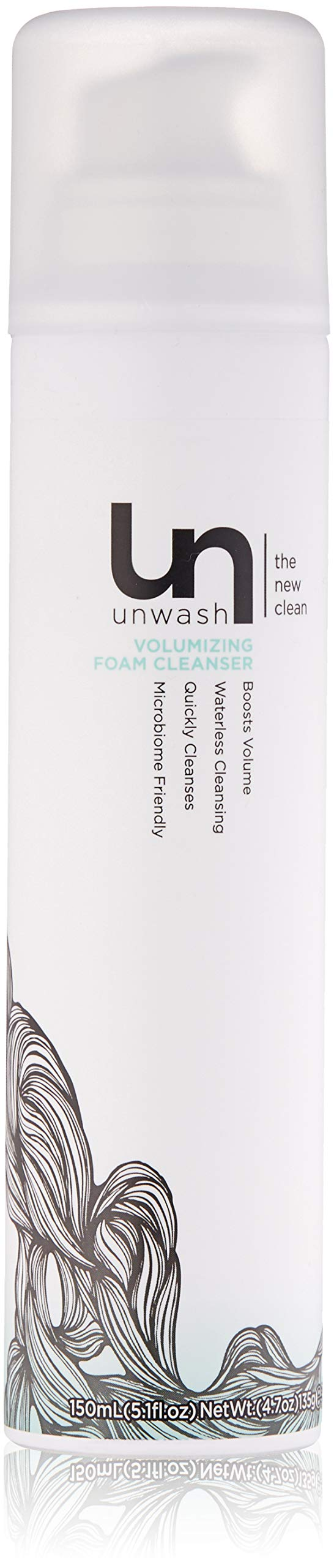 Unwash Volumizing Dry Cleanser Foam: No Rinse, Waterless, Dry Shampoo for Fine Hair and Extra Volume, 5.1 Fl Oz by unwash