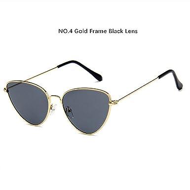 aba82910ca3 Women Cat Eye Sunglasses Luxury Brand Designer Cateye for Ladies Red Glasses  Metal UV400