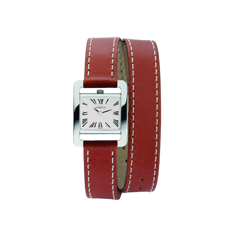 HERBELIN - 17037-P01MA - Feminines - Montres Femme - Quartz - Argent - Bracelet Cuir Marron