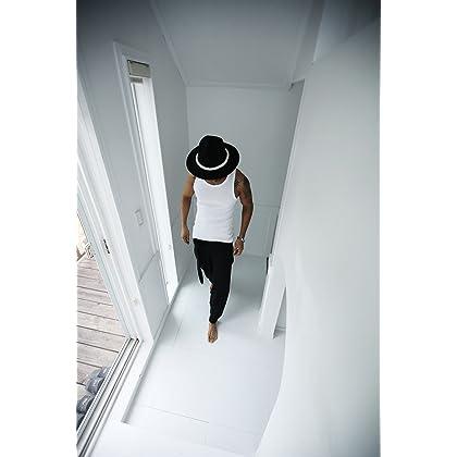 ... ByTheR Men s Dark Rope Decoration Quality Wool Felt Mountain Fedora  Dark Hat Ivory ... 240fe3944ce2