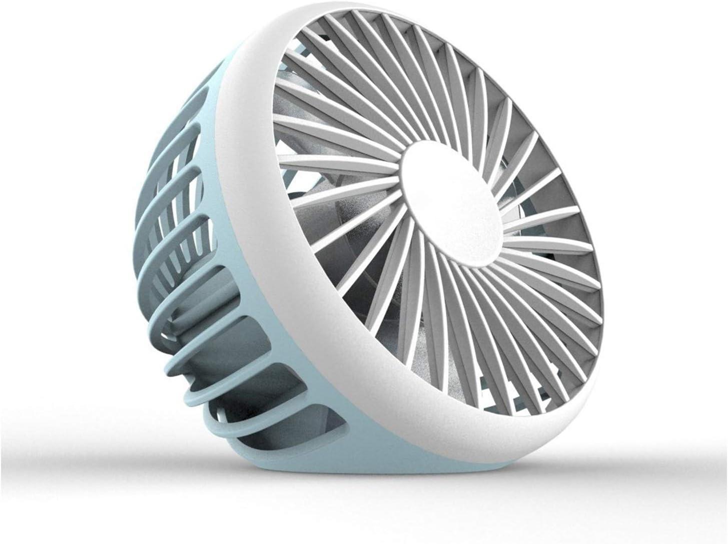 XIAOF-FEN Mini Fan USB Charging Mute Fan 3 Leaf Lightweight Electric Fan Outdoor Personal Fans USB Fan Color : 01