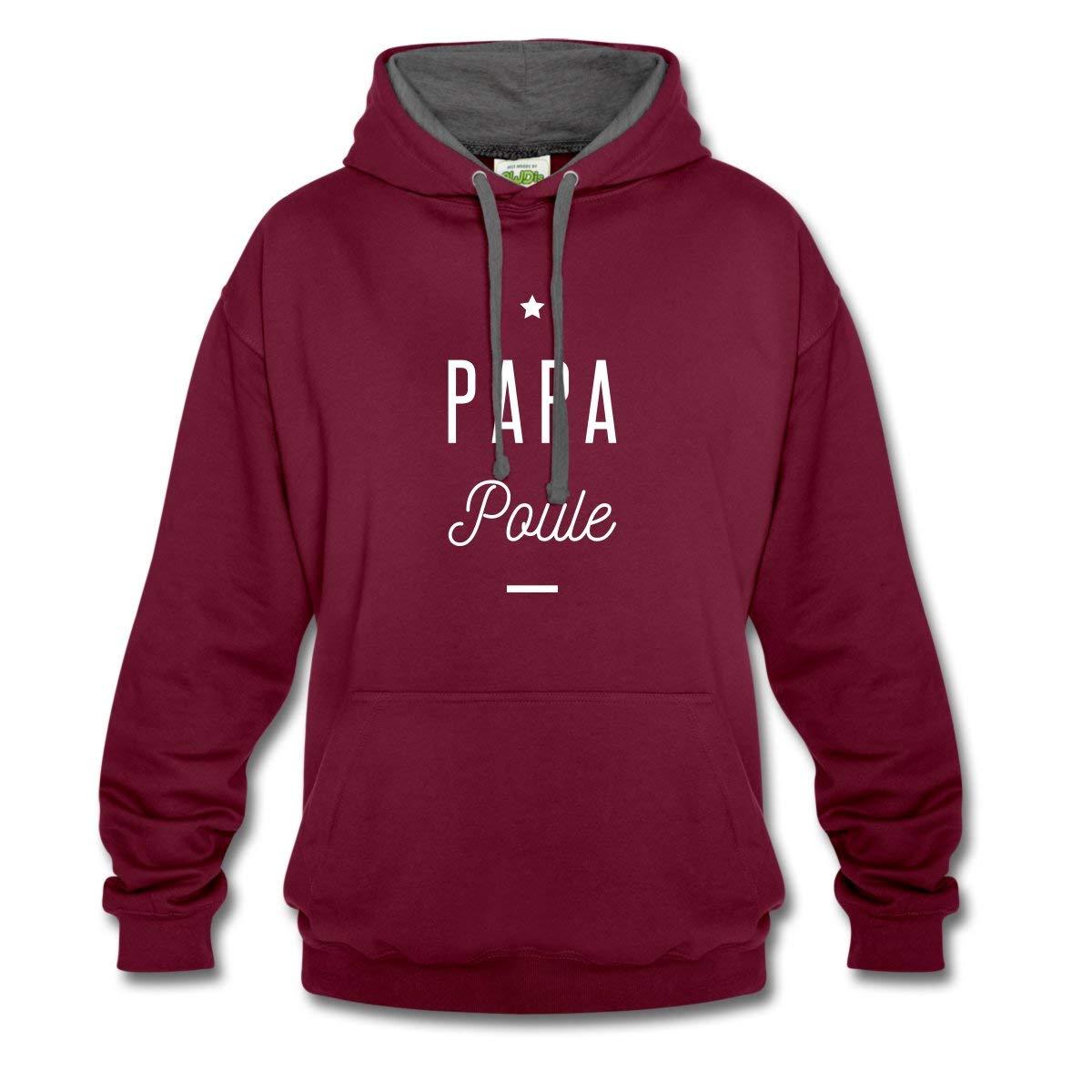 Spreadshirt Papa Poule Sweat /à Capuche contrast/é Unisexe