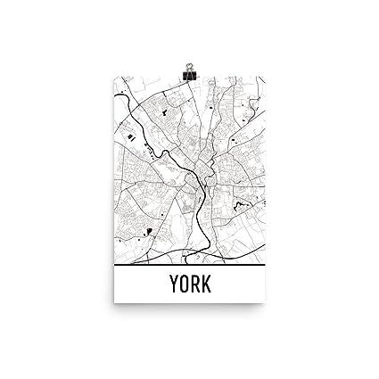 Map Of England Showing York.Amazon Com York Print York Art York Map York England York