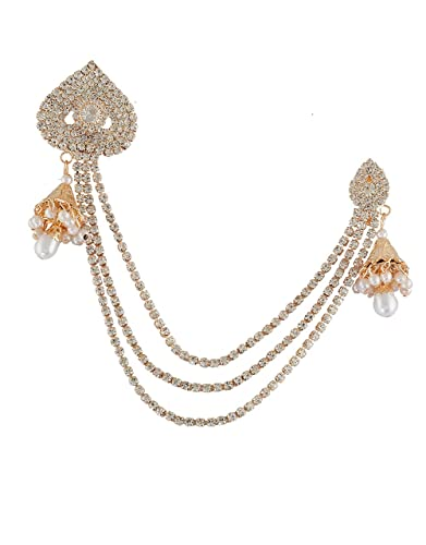 4cce6f260 Buy Anuradha Art Gold Finish Styled with Sparkling Stone & Pearl ...