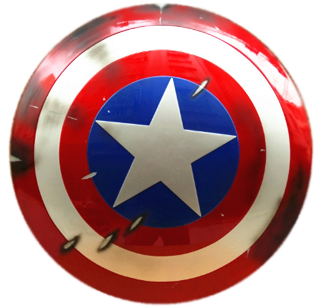 Gmasking Captain America Adult Shield 1:1 Prop Battle Replica+Adjustable Straps