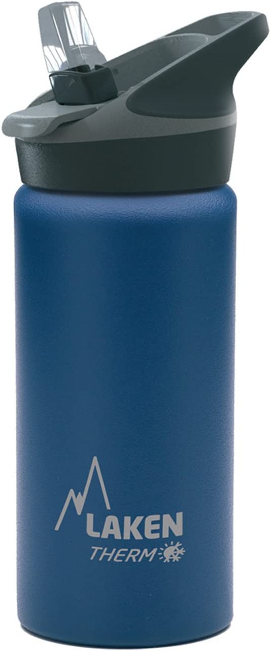 Laken Jannu Botella Térmica Acero Inoxidable 18/8 y Doble Pared de Vacío, Unisex adulto, Azul, 500 ml