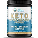 Catching Ketones Keto Coffee Creamer with MCT Oil, French Vanilla Creamer with Powdered Erythritol Sweetener-Monkfruit…