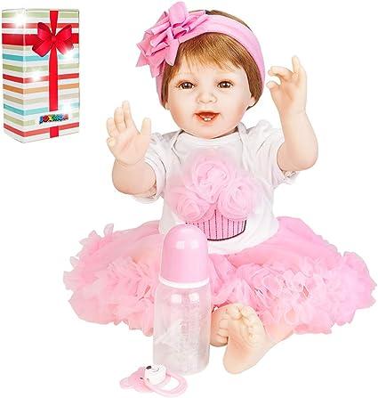 Full Body Silicone Reborn Girl Baby Doll Toys Realistic Doll Birthday Gift 2018
