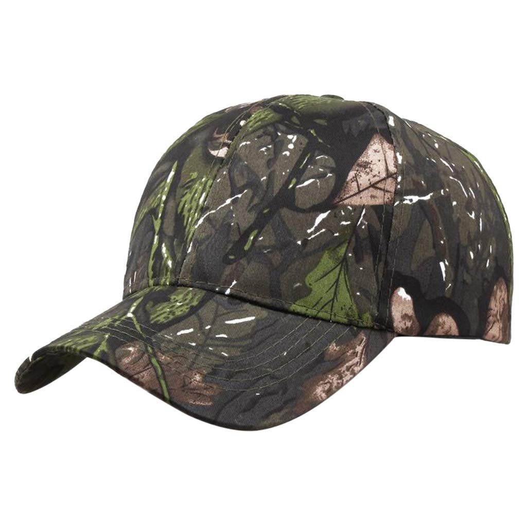 Unisex Summer Cotton Outdoors Camouflage Baseball Cap Adjustable Low Profile Classic Sunshade Visor Sunhat Trucker Dad Cap (B)