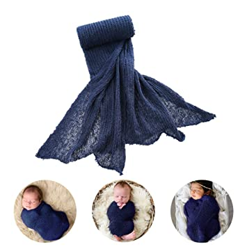 Newborn Baby Stretch Knit Wrap Photo Photography Prop Mum Scarf Baby Blanket New