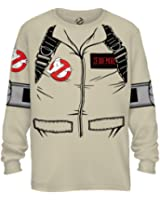 Ghostbuster ZEDDEMORE Adult LONG SLEEVE Costume T-Shirt With Back Print