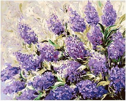 Puzzle 1000 Pieces Painting Adult Kids DIY Jigsaw Puzzle Toy Lavender Flower