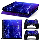 Consoles Ps4 Best Deals - Vinyl Decal Protective Skin Cover Sticker for Sony PS4 Console And 2 Dualshock Controllers--lightning strike