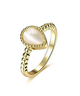 Anillo de boda gota de agua, anillo de compromiso, anillo de moda, elegante anillo de joyería romántica para mujeres y hombres regalo