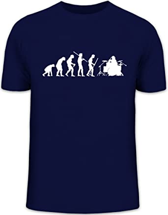 Shirtstreet24, EVOLUTION DRUMMER, Schlagzeuger Schlagzeug Drum Kit Herren T- Shirt Fun Shirt Funshirt